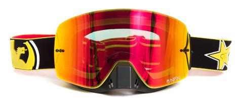 dragon motocross goggles dragon new mx nfxs rockstar energy ionized yellow red