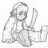 Jason Drawing Coloring Pages Voorhees Vorhees Drawings Horror Outline Sketch Deviantart Mask Cartoon Sketches Astrozerk Sheets Tatoo Template sketch template