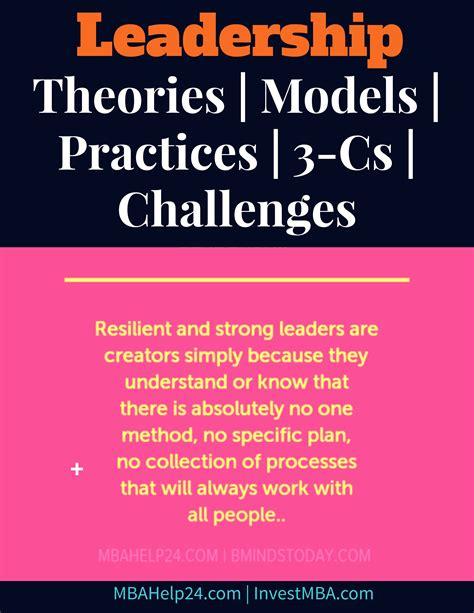 leadership management theories models fundamentals