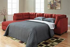 Ashley furniture sofa beds zeth crimson queen sofa sleeper for Sectional sleeper sofa with queen bed