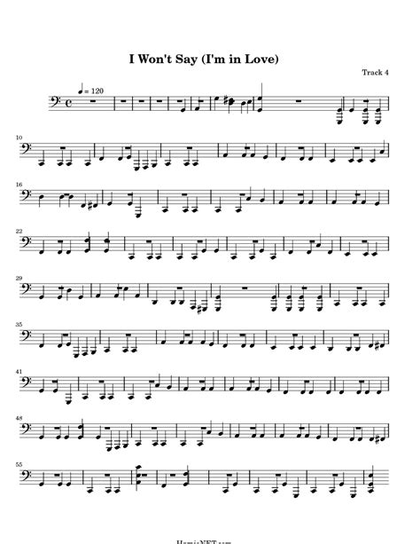I Won't Say (i'm In Love) Sheet Music  I Won't Say (i'm