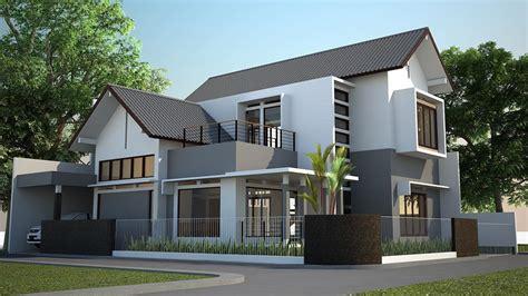 gambar rumah minimalis modern  lantai tampak depan