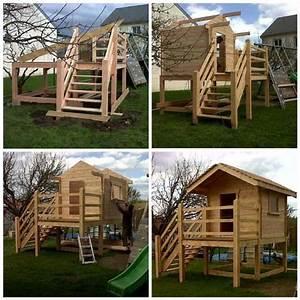 Maisonnette En Bois Sur Pilotis : fabriquer une cabane en bois sur pilotis ~ Dailycaller-alerts.com Idées de Décoration