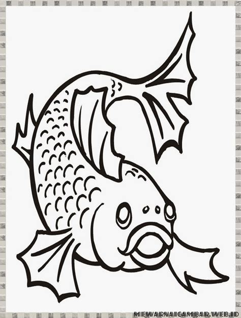 mewarnai gambar ikan mewarnai gambar