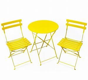 Salon De Jardin Pliant : salon de jardin pliant pop jaune mat 2 places 89 salon ~ Dailycaller-alerts.com Idées de Décoration