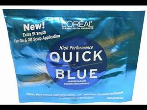 Bleaching My Hair With Quick Blue Bleach So I Can Have