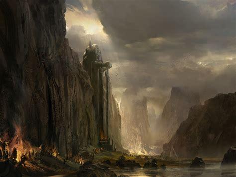 landscape drawing fantasy art guild wars wallpapers hd