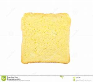 Slice Of Bread With Butter Isolated Stock Photo - Image ...
