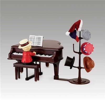 christmas teddy takes requests  baby grand piano