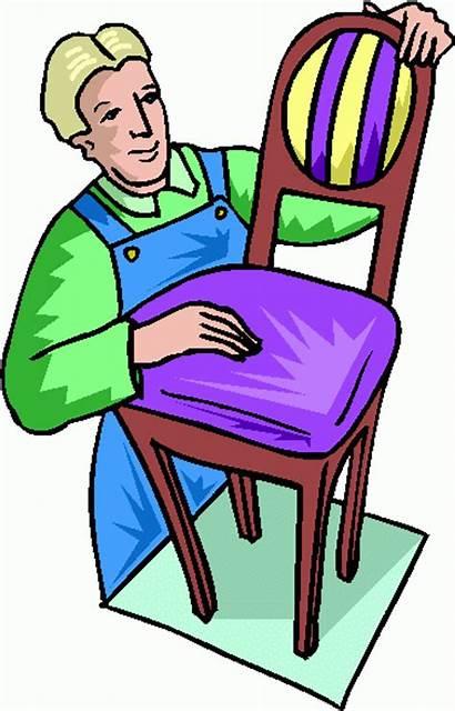 Furniture Clip Clipart Builder Cliparts Cartoon Antique