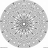 Coloring Pages Cool Elementary Geometric Pattern Printable Popular sketch template