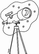 Telescope Coloring Clipart Pages Sheets Space Theme Google Looking Preschool Crafts Cliparts αναζήτηση Bible Solar Library Clip Stargazing Vacation Items sketch template