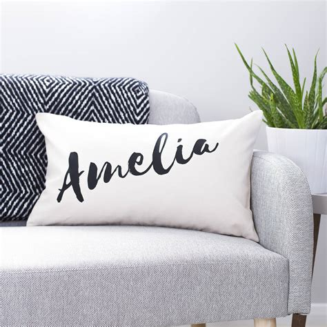 personalised cusion personalised name cushion by clouds and currents