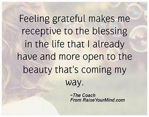 Happiness Quotes   Feeling grateful makes me receptive to ...