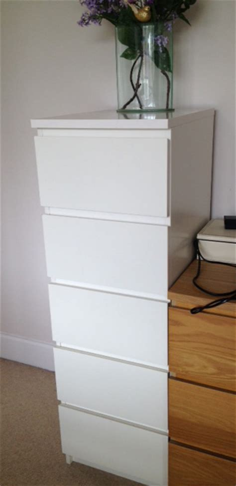 ikea chest  drawers tallboy white  items