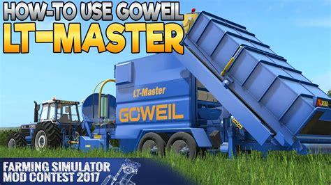 goweil lt master farming simulator  mod contest youtube