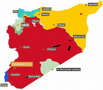 Syria War Controls Syrian Map Government Military