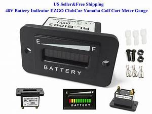 Us 48v Battery Indicator 48 Volt Ezgo Clubcar Yamaha Golf Cart Meter Gauge New 731938830239