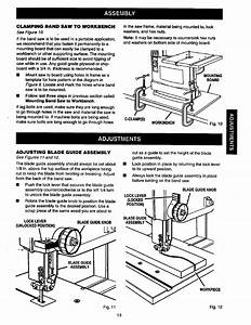 Adjustments  Blade Guide Assembly  Assembly
