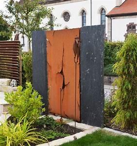 Krauss Der Stein : metallbau b he metallgestaltung in h fingen sichtschutz design ~ Frokenaadalensverden.com Haus und Dekorationen