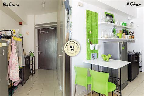 living area kitchen  bedroom makeovers   sqm condo rl