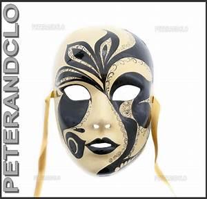 Masque Pour Peinture : masque de venise volto retro authentique en papier mache ~ Edinachiropracticcenter.com Idées de Décoration