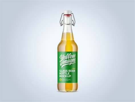Contains special layers and smart objects for your work.the pills color is. Clear Glass Beugel Beer Bottle Mockup | Mockup World HQ