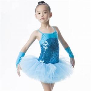 Girls children kids paillette patchwork leotard skirt tutu ...