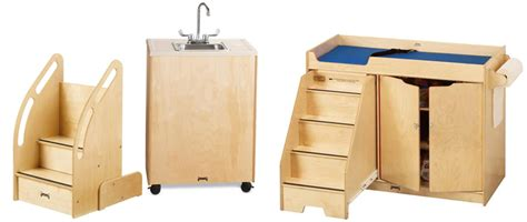 changing table stairs only 5 great freestanding changing tables for daycare centers
