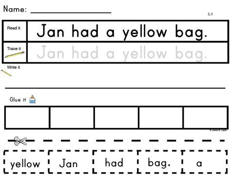 cut and paste sentences part 1 primary
