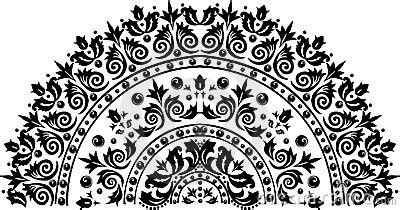 black  circle decoration royalty  stock images