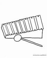 Glockenspiel Ausmalbild Malvorlage Xylophon sketch template