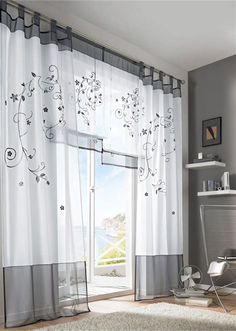2016 tulle green grey purple blackout embroidery curtains