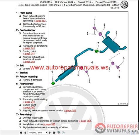 volkswagen touran 2016 workshop manuals auto repair