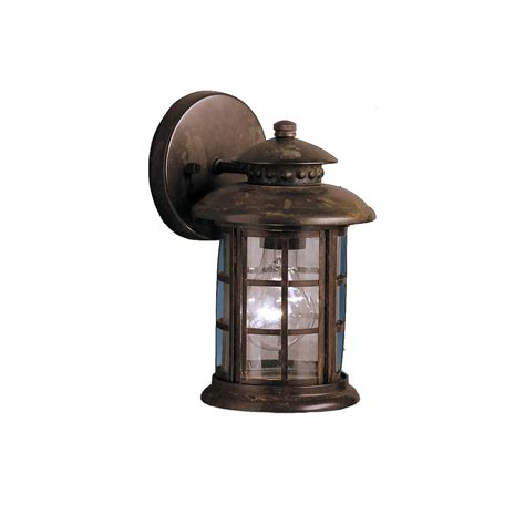 wall lanterns outdoor lighting kichler rustic 1 light outdoor wall lantern reviews