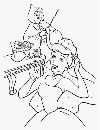 Cinderella Coloring Pages Printable Disney Princess Filminspector