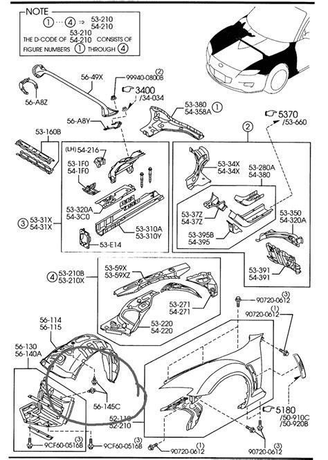 Mazda 6 Engine Part Diagram by Rx8 Parts List Rx8club