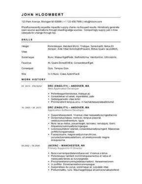 button down resume template recipes simple resume