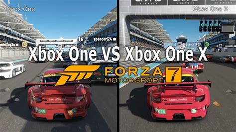 Forza 7 Xbox One Vs Xbox One X Graphics Comparison 1080p