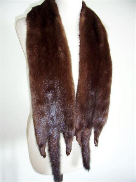 buy fur scarf mink scarf brown    furs  shop