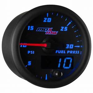 Blue Maxtow Double Vision 30 Psi Fuel Psi Gauge