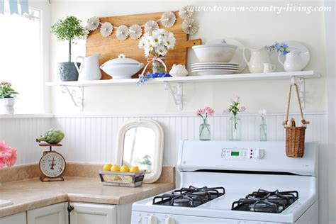 country shelves for kitchen open shelving in the kitchen town country living 6201