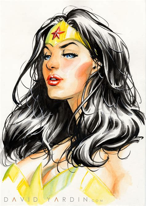 Wonder Woman Watercolour Painting By Davidyardin On Deviantart
