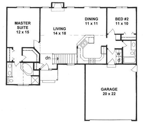 split ranch floor plans plan 1218 2 split bedroom ranch house plans