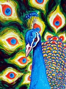 Abstract Paintings Of Peacocks www pixshark com - Images