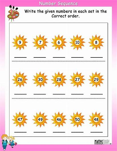 Sequence Numbers Correct Write Number Worksheet Worksheets