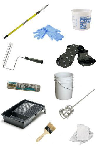 how to apply garage floor epoxy coatings the diy guide all garage floors - Epoxy Flooring Tools
