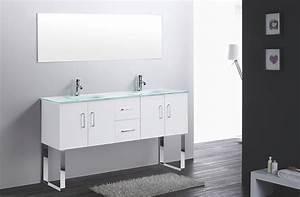 Grand Meuble Salle De Bain : snow grand meuble salle de bain double vasque avec pieds ebay ~ Teatrodelosmanantiales.com Idées de Décoration