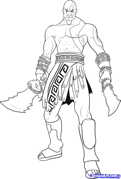 How To Draw God Of War Draw Kratos Step By Step Video