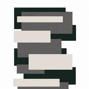 Tapis Geometrique Noir Et Blanc : tapis de couloir noir et blanc pebbles par angelo ~ Teatrodelosmanantiales.com Idées de Décoration